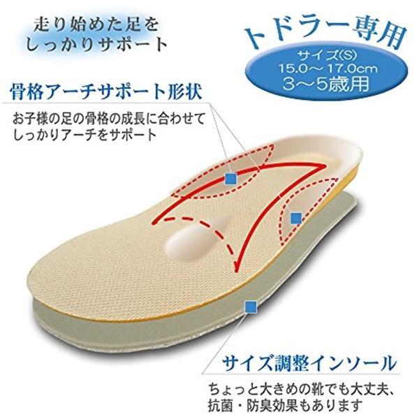 キッズインソール トドラー専用 男女兼用(ベージュ, S(15.0〜17.0cm)) sevenleaf 02