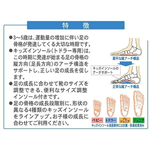 キッズインソール トドラー専用 男女兼用(ベージュ, S(15.0〜17.0cm)) sevenleaf 03