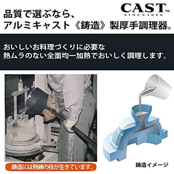北陸アルミ フライパン IHハイキャスト 20cm 「オール熱源対応」[E525278H](ブラック, フライパン20cm)|sevenleaf|04