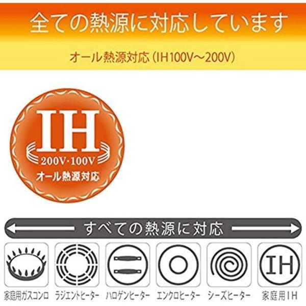 北陸アルミ フライパン IHハイキャスト 20cm 「オール熱源対応」[E525278H](ブラック, フライパン20cm)|sevenleaf|07