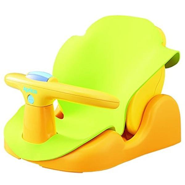 Aprica バスチェアー 新生児から はじめてのお風呂から使えるバスチェア YE 91593[YE 91593](イエロー) sevenleaf