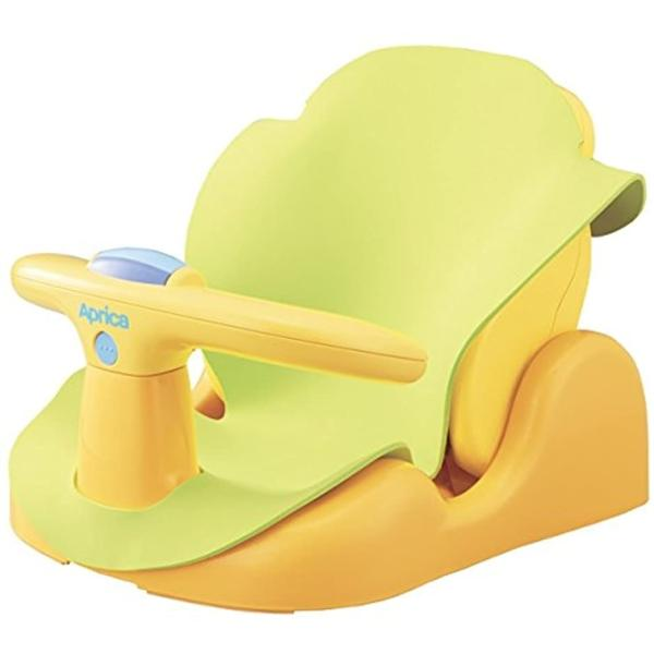 Aprica バスチェアー 新生児から はじめてのお風呂から使えるバスチェア YE 91593[YE 91593](イエロー) sevenleaf 02
