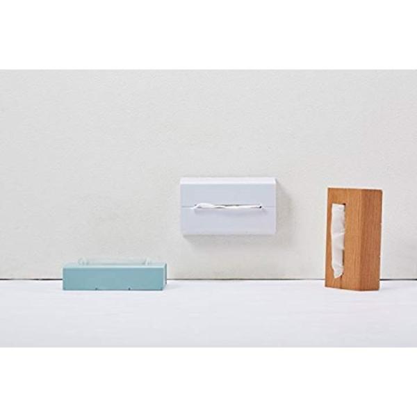ティッシュケース 壁に貼って使えるウォール[WALL](ホワイト)|sevenleaf|13