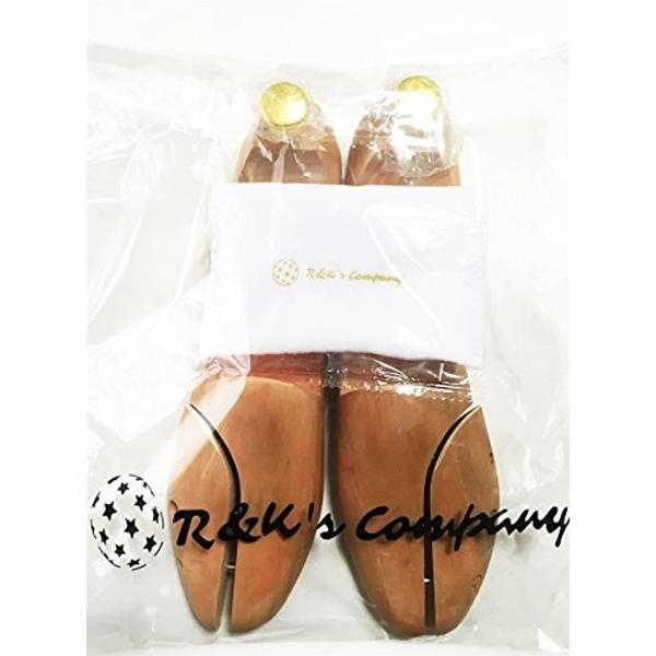 シューツリー シューキーパー 木製 靴磨きクロス付き 23.5-24.0cm(ブラウン, 23.5〜24.5 cm)|sevenleaf|09