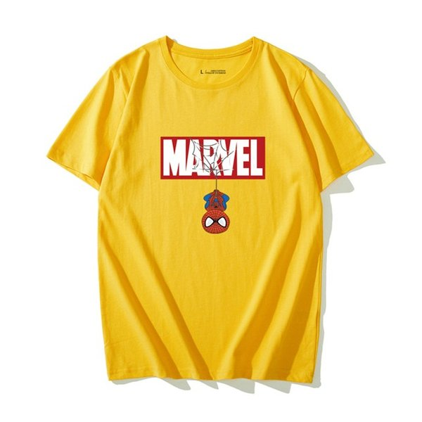 6color! marvel  マーベル スパイダーマン半袖シャツ ペアTシャツ  トップス メンズ レディース お揃い ご夫婦・友達 カップル ペアルック 男女兼用|sevenseas77|05