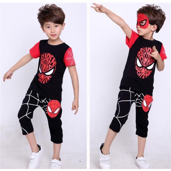 スパイダーマン 上下セット スパイダーマンパーカ 2点セット 子供服 短袖 セットアップ 男の子 夏物 キッズ|seventhlandya|05