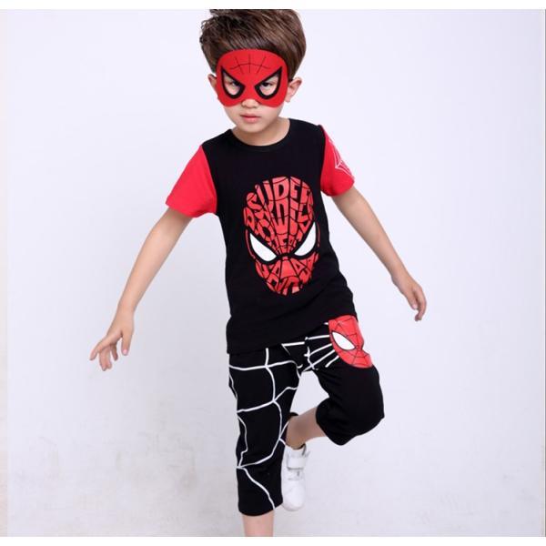 スパイダーマン 上下セット スパイダーマンパーカ 2点セット 子供服 短袖 セットアップ 男の子 夏物 キッズ|seventhlandya|07