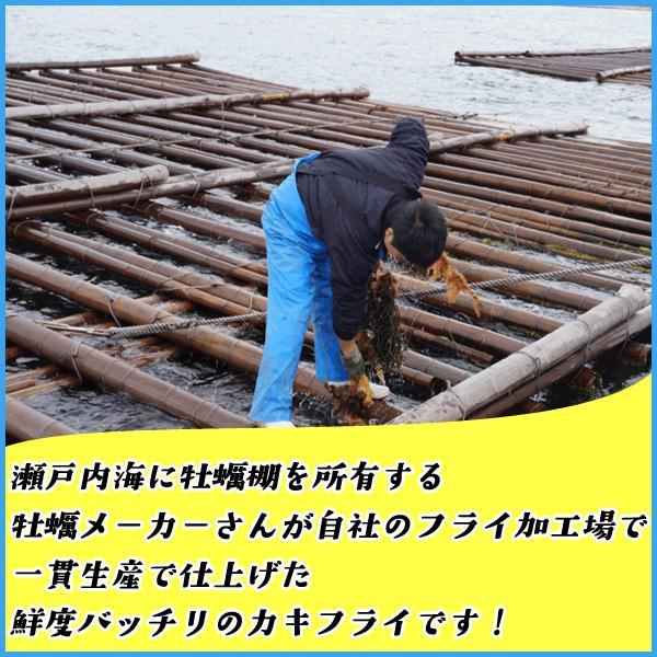 カキフライ 大粒40g×20粒 冷凍食品 広島県産 牡蠣 かき 惣菜 おつまみ|sfd-ymd|03