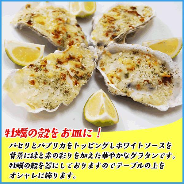 牡蠣殻グラタン 4ピース 冷凍食品 広島県産カキとホワイトソース おつまみ 惣菜|sfd-ymd|04
