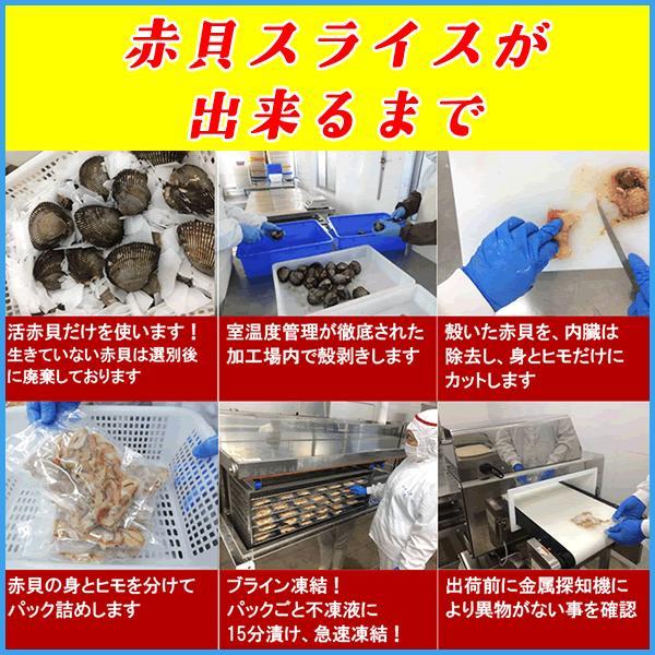 活冷 赤貝 開きスライス10枚とヒモ60gのお得セット 高鮮度品 アカガイ すし 寿司|sfd-ymd|04