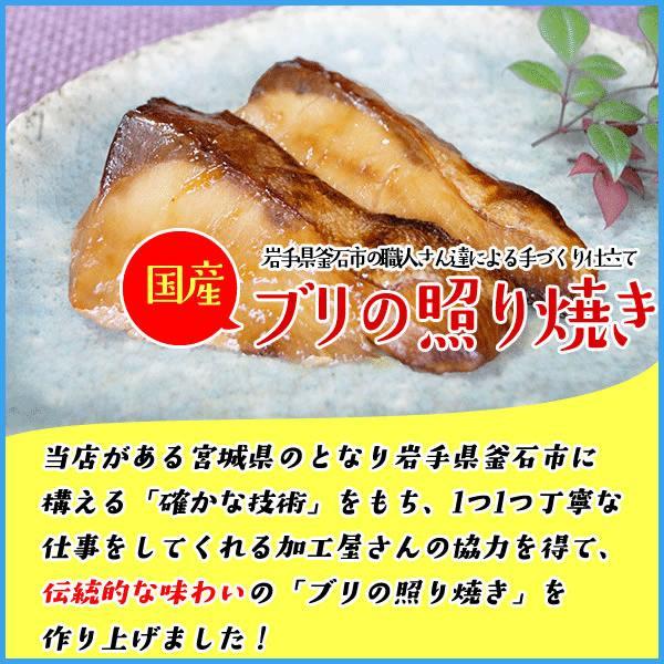 国産ブリの照り焼き 30g×5切入り 湯煎で温めるだけの簡単調理 ぶり 鰤 てりやき|sfd-ymd|02