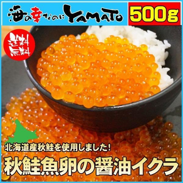 いくら 北海道産秋鮭魚卵の醤油イクラ 500g 魚卵 贈答 海鮮 年末年始 お中元 プレゼント|sfd-ymd