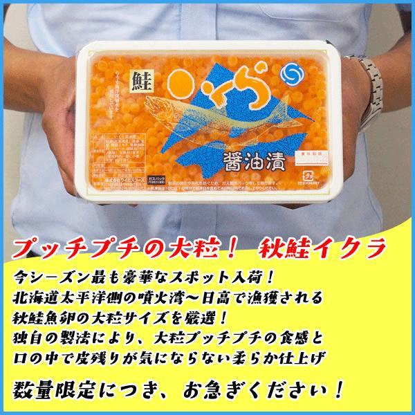 いくら 北海道産秋鮭魚卵の醤油イクラ 500g 魚卵 贈答 海鮮 年末年始 お中元 プレゼント|sfd-ymd|02