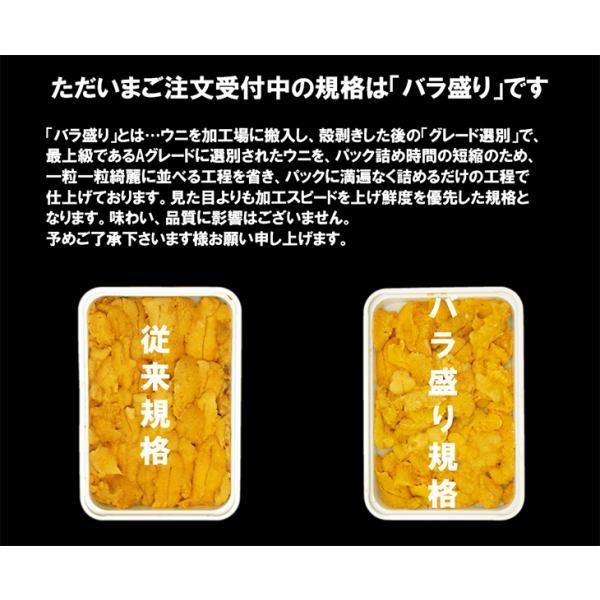 天然生ウニ 100g 冷凍食品 完全無添加 うに 雲丹|sfd-ymd|07