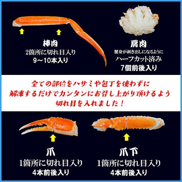 ボイル本ズワイ蟹脚 1kg 船上凍結にこだわった身入り抜群の大型Lサイズ以上を厳選 ずわい 足 かに カニ グルメ ギフト|sfd-ymd|02
