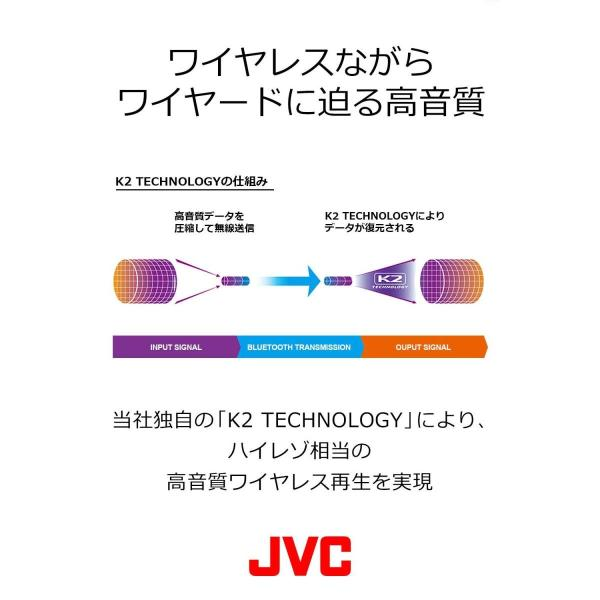 JVC HA-SD70BT ワイヤレスヘッドホン 高音質化技術 K2テクノロジー搭載/連続20時間再生/Bluetooth・ハイレゾ対応/折|sfida-shop|05