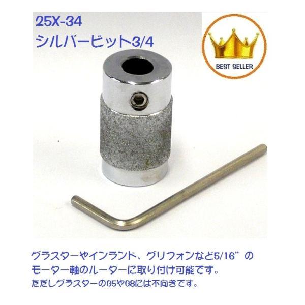 "SB-3/4"" 普通目 シルバービット ステンドグラス ルーター 用 ダイヤ刃 SB-34|sgs-bit-shop"