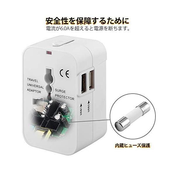 海外変換プラグ 2USBポート旅行充電器 A・O・BF・Cタイプ 電源変換プラグ コンパクトなコンセント 壁の充電器100-250V安全ACアダプター|sh-price|06