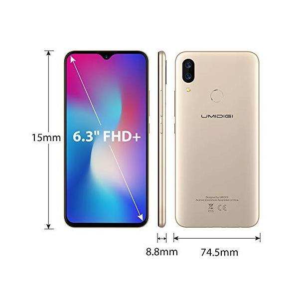 UMIDIGI Power SIMフリースマートフォン Android 9.0 5150mAh大容量バッテリー 6.3インチ FHD+ 大画面ノッチ付|sh-price|04