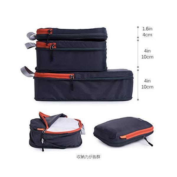 パッキングキューブ3袋セット、旅行用、圧縮袋、荷物/バックパックの整理整頓|sh-price|03