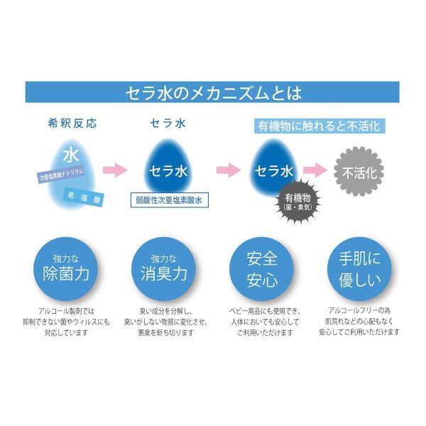 次亜塩素酸水 セラ水 詰替 4L 除菌 消臭 50ppm ph6.5 弱酸性 cela|shalom-shop|05