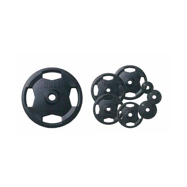 (オリンピックプレート)(バーベルプレート)BULL Φ50mmラバープレート15kg(2枚1組) BL-RP15