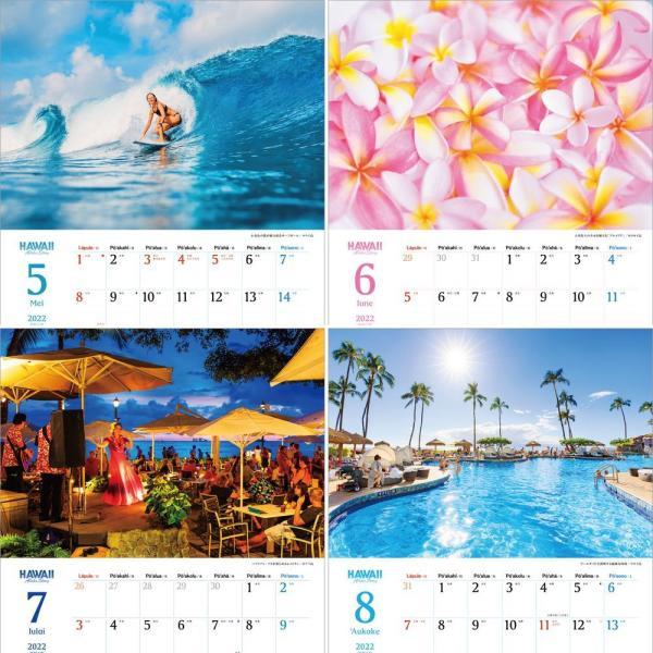 カレンダー2021 壁掛け 「ハワイ 〜 Aloha Story」人気 海 海外 風景 絶景 ブルー お洒落 写真 スケジュール|shashinkoubou|04