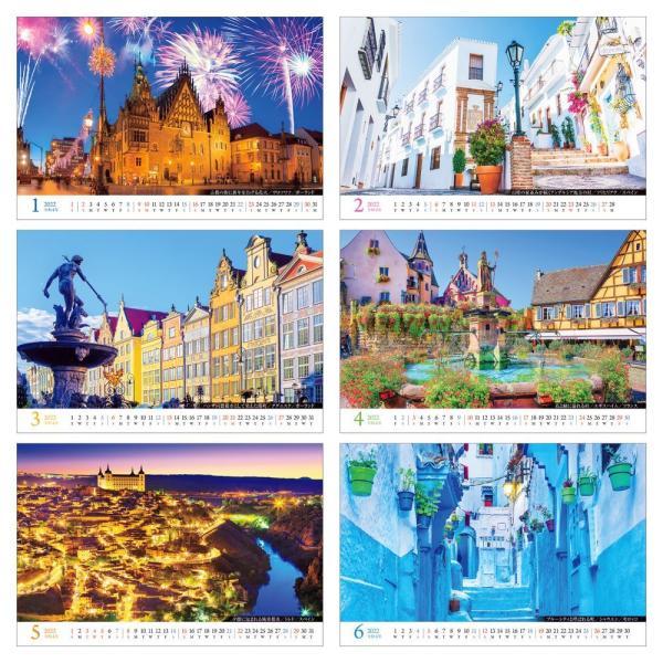 カレンダー2020 卓上 「世界一美しい街を散歩する」写真 綺麗 風景 絶景 お洒落 ギフト スケジュール|shashinkoubou|03