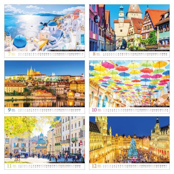 カレンダー2020 卓上 「世界一美しい街を散歩する」写真 綺麗 風景 絶景 お洒落 ギフト スケジュール|shashinkoubou|04