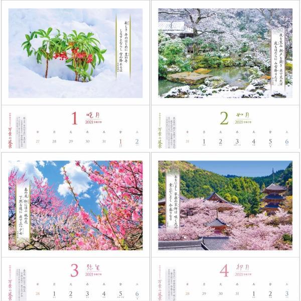カレンダー2021 壁掛け 「万葉の風景 〜 令和の時代にひもとく」お洒落 人気 プレゼント 風景 写真 絶景 スケジュール|shashinkoubou|02