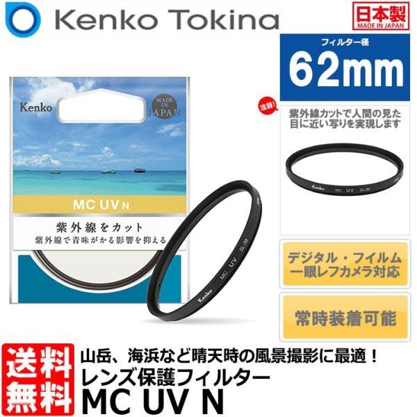【メール便 】 ケンコー・トキナー 62 S MC-UV N UVフィルター 62mm径 レンズガード 【即納】