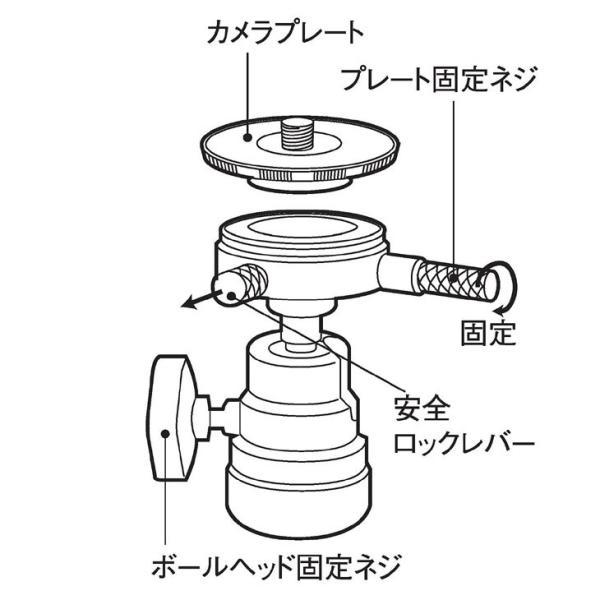 エツミ E-6740 クイックシュー付ボールヘッド2