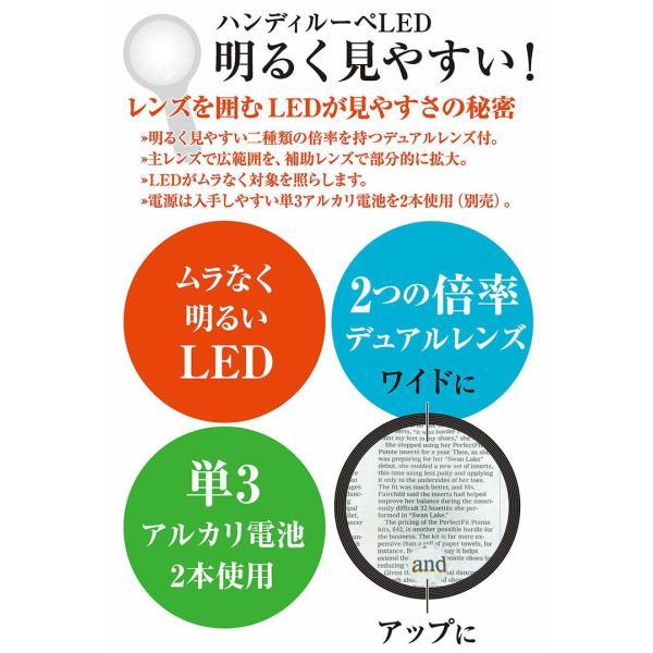 エツミ VE-5511 ハンディルーペ LED 2.5× 5×
