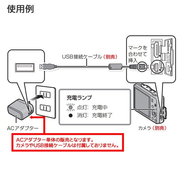 【メール便 】 パナソニック VSK0771 デジタルカメラ用 純正ACアダプター ※この商品単体では充電できません 【即納】