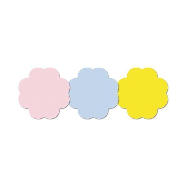 (まとめ) 3M ポスト・イット シルエットノート強粘着タイプ フラワー 3色 SSS-FLN 1パック(3冊) 〔×10セット〕 付箋紙 ポストイット|shatti|02