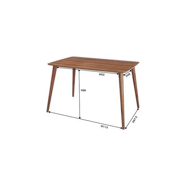 ダイニングテーブル 〔Tomte〕トムテ 長方形 木製(天然木) TAC-242WAL|shatti|02