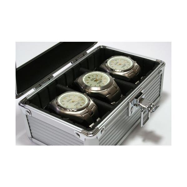 腕時計用ケース 3本 収納ケース 腕時計 アルミ アルミ製 メンズ レディース ケース アクセサリー コレクションケース 収納 ウォッチケース 人気 腕時計用品 時計