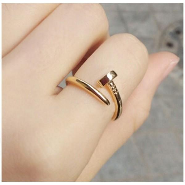 工具アクセサリー 釘デザインリング 指輪 C型リング フリーサイズ|sheepon|02