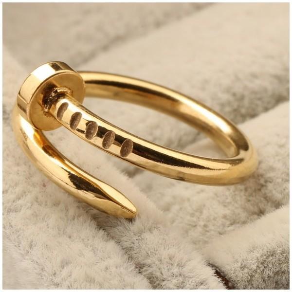 工具アクセサリー 釘デザインリング 指輪 C型リング フリーサイズ|sheepon|03