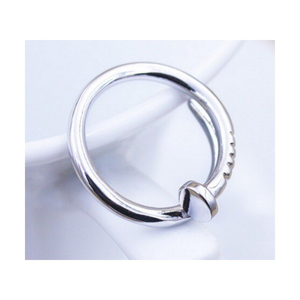 工具アクセサリー 釘デザインリング 指輪 C型リング フリーサイズ|sheepon|04