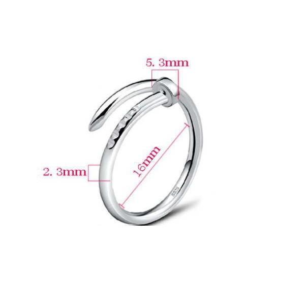 工具アクセサリー 釘デザインリング 指輪 C型リング フリーサイズ|sheepon|05