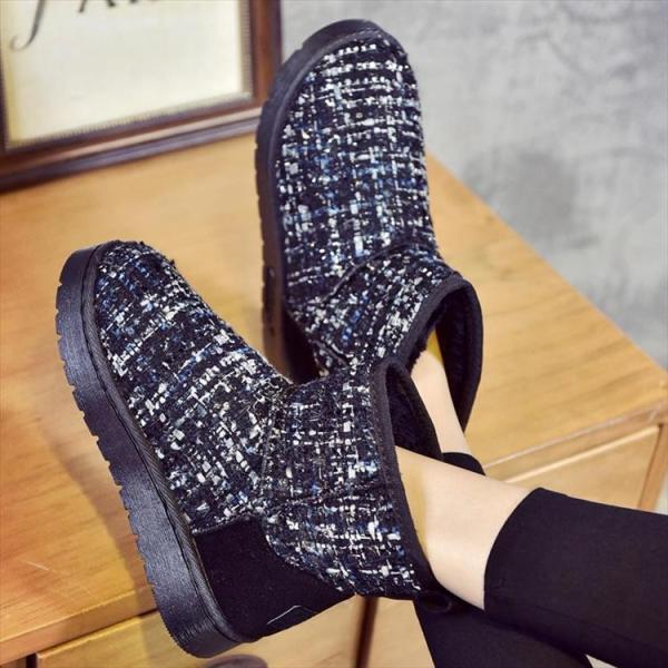 ムートン ブーツ シューズ レディース ショートブーツ 美脚 可愛い チェック フラットヒール ウェッジソール 痛くない 履きやすい 脱げない 暖かい