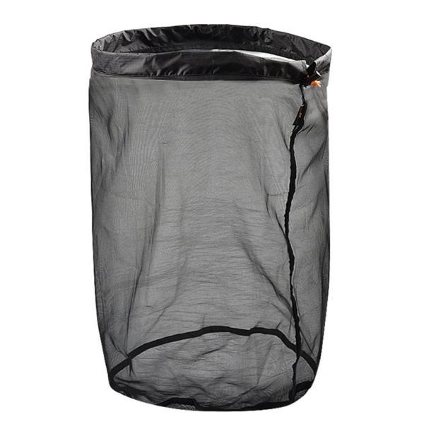 寝袋保管用バック 50×31 ブラック 通気性 収納袋 メッシュ シュラフ 保管 バック ストリージバック 登山 アウトドア キャンプ Mt.happy/マウントハッピー