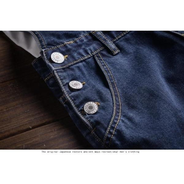 メンズサロペット オーバーオール デニム つなぎ オールインワン ペインター  ワークパンツ カーゴ 個性 作業服 shiawaseclose 04
