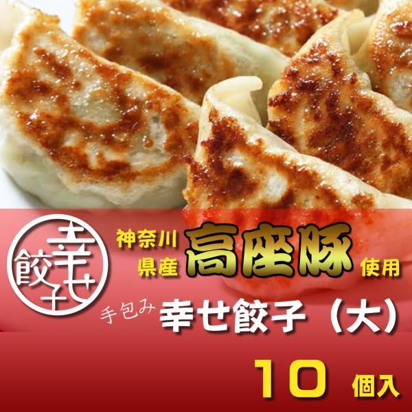 餃子 ぎょうざ 幸せ餃子(大)10個 神奈川県産「高座豚」使用 化粧箱入り 手包み|shiawasegyoza