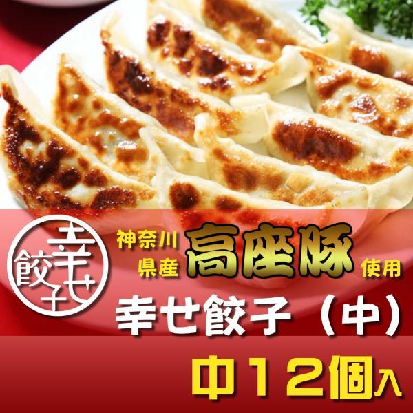 餃子 ぎょうざ 幸せ餃子(中)12個 神奈川県産「高座豚」使用 化粧箱入り shiawasegyoza