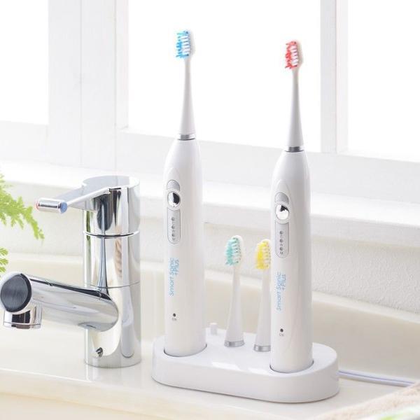 電動歯ブラシ 音波歯ブラシ 音波式電動歯ブラシ 送料無料 Smart Sonic +Plus W スマートソニック プラス ダブルチャージャー 音波 ギフト 贈り物 shibaden 02