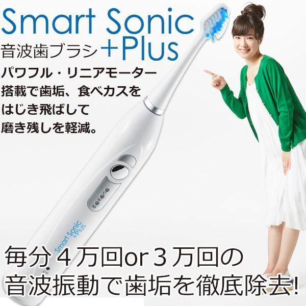 電動歯ブラシ 音波歯ブラシ 音波式電動歯ブラシ 送料無料 Smart Sonic +Plus W スマートソニック プラス ダブルチャージャー 音波 ギフト 贈り物 shibaden 04