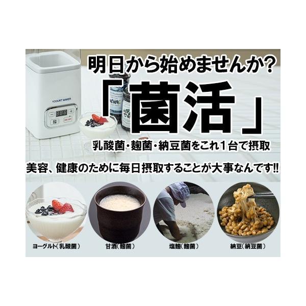 ヨーグルトメーカー 甘酒 塩麹 飲むヨーグルト 甘酒メーカー 発酵食品 母の日 ギフト shibaden 04