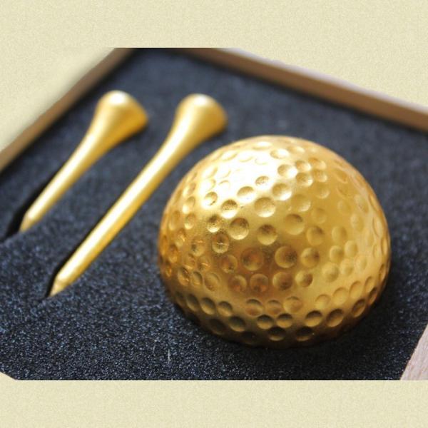 金沢箔ゴルフボール&ティーセット|shibokusansou|02